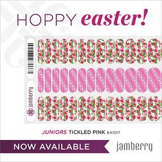 Include your little ones in the fun with these spring nail wraps. These Jamberry Juniors wraps are just right for smaller hands. Click Picture to Purchase! www.traceycurtis.jamberrynails.net #TickledPinkJN
