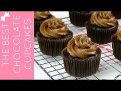 THE BEST Chocolate Cupcakes from Scratch // Lindsay Ann Bakes - YouTube Chocolate Cupcakes From Scratch, Best Chocolate Cupcakes, Vanilla Buttercream Frosting, Chocolate Buttercream, Food Videos, Recipe Videos, Cup Cakes, Baking, Ann