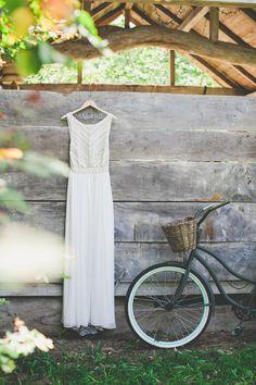My custom wedding gown was designed by my good friend, Mara Hoffman. I wanted something simple, clean, and sleek.