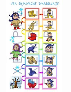 Routine-de-l-habillage-de-Karine-Senecal. My Themes, Kids Education, Kindergarten, Father, Kids Rugs, Activities, Comics, David, Illustration