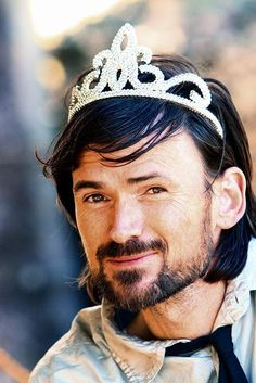 There was a perfectly good reason for Jeremy Davies to model a tiara. I just don't recall what it was. Update: NOW I remember. It was Tiara Tuesday!