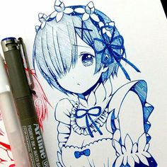 Marvelous Learn To Draw Manga Ideas. Exquisite Learn To Draw Manga Ideas. Kawaii Anime Girl, Anime Art Girl, Character Drawing, Character Design, Re Zero, Anime Sketch, Manga Characters, Ram And Rem, Manga Drawing