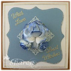 Flowers with Love & Best Wishes Hanukkah, Wish, Card Making, Paper Crafts, Love, Frame, Flowers, Cards, How To Make