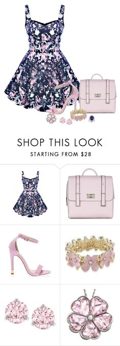 """""""I've Got Thick Skin and An Elastic Heart"""" by loocreve ❤ liked on Polyvore featuring Carolee, Swarovski and Halo"""