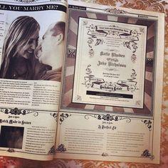 Hochzeitszeitung Beispiele   von Heiratsantrag bis zur Einladungskarte dargestellt