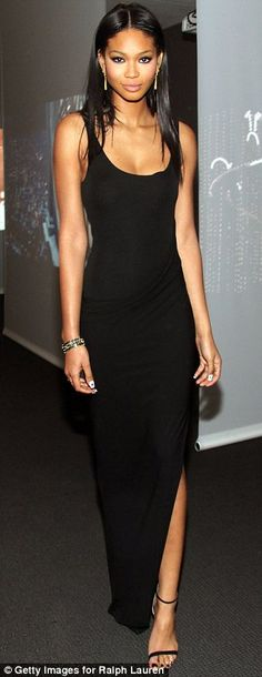 """Simplicity is a great way to look effortlessly stylish: Chanel Iman at a screening of """"To Catch a Thief"""""""