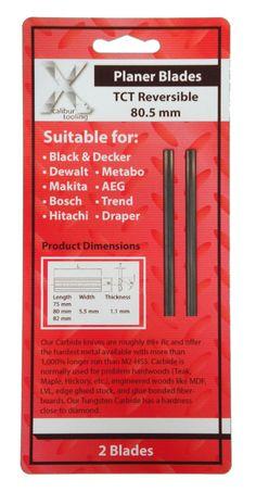 Tct 80mm X 5.5 X 1.1mm Planer Blades Makita, Bosch Dewalt Black & Decker 273237