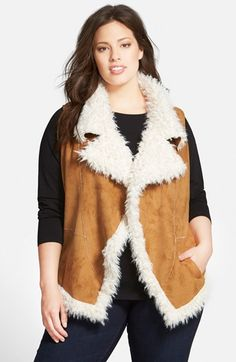 Two by Vince Camuto Faux Shearling Vest (Plus Size) available at #Nordstrom