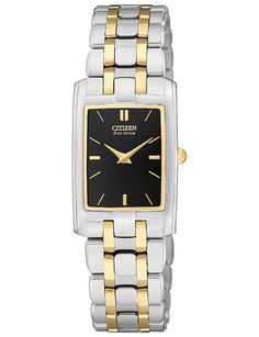 (CLICK IMAGE TWICE FOR UPDATED PRICING AND INFO) #watch #watches #ladieswatches #womenswatches #womenswatch Citizen EG3184-50E Women's Stiletto Black Dial TT Quartz Watch  - See More Womens Watches at http://www.zbuys.com/level.php?node=6618=womens-watches
