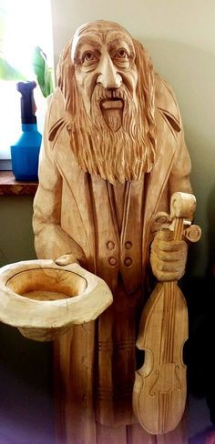just wonderful! Chainsaw Wood Carving, Wood Carving Art, Wood Art, Driftwood Sculpture, Sculpture Art, Sculptures, Heavy Metal Art, Whittling Wood, Tree Carving