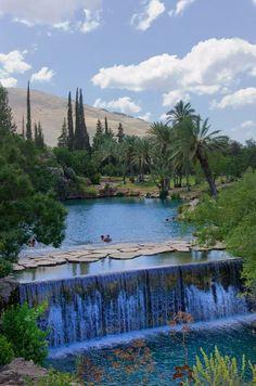 Waterfalls. Gan HaShlosha National Park, Israel. Source google.com