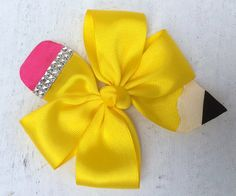 Hey, I found this really awesome Etsy listing at https://www.etsy.com/listing/242518566/back-to-school-hairbow-pencil-bow-back