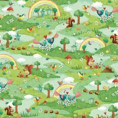 Rainbow Woodland - Cotton