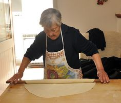 Making pasta by hand with a nonna in Puglia, Italy