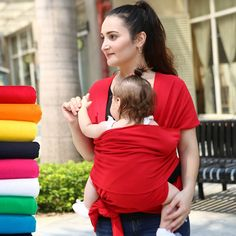 1432c2e88cc 100% Cotton Child Baby Wrap Carrier Hiking Baby Carrier