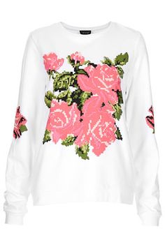 Embroidered Floral Sweat.