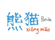 Chinese word of the day #1- xiong mao- panda