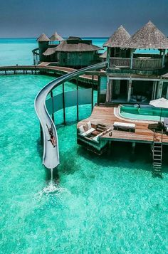 Travel Destinations Overwater Bungalow in Maldives. 20 Amazing Hotels In Striking Locations You Must Maldives Voyage, Maldives Travel, Maldives Resort, Visit Maldives, The Maldives, Vacation Places, Dream Vacations, Vacation Spots, Romantic Vacations