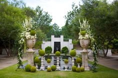 How gorgeous is this? I don't do weddings but I'd definitely use this as inspiration for an outdoor fundraising event.