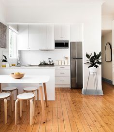Contemporary kitchen with Scandinavian minimalism [Design: Libby Winberg Interiors]