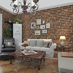 df5ae5ffd5dfc0 Vintage Red Brick Wallpaper Mural 3D pvc Waterproof Embossed Modern Roll  Living Room Study Bedroom TV Home Wall Paper