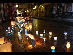 姫路市街地で「キャンドルナイト」-冬至にちなみ2カ所で開催(写真ニュース)