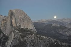 Full moon rising in Yosemite on October 18th. Photo by: Candy Miears