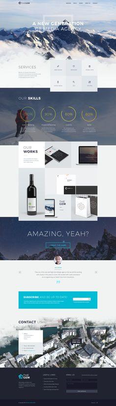 Thegem mainpage 3 Website Layout, Web Layout, Layout Design, Web Ui Design, Web Design Trends, Business Web Design, Ui Web, Web Design Inspiration, Digital