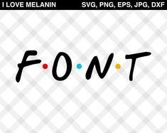printable alphabet of the friends tv show font | Cricut ...