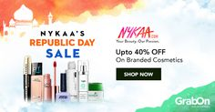 If #makeup is art, beauty is spirit. Amazing discounts on top cosmetic brands at the #Nykaa #RepublicDay sale!