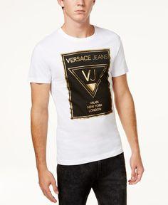 Versace Jeans Men's Graphic Print Cotton T-Shirt