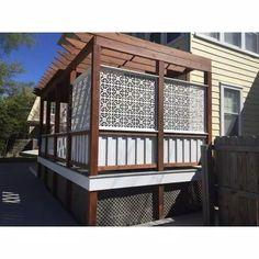 Privacy Fence Designs, Privacy Screen Outdoor, Deck Privacy Screens, Decks With Privacy Walls, Pergola Patio, Backyard Patio, Deck Gazebo, Patio Wall, Cheap Pergola