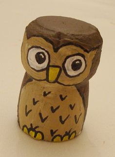 Champagne cork or owl?! Koralee you should make these and put them in a jar!