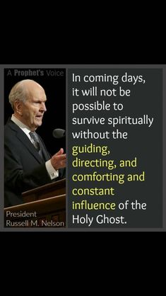 Spiritual survival, President Russell M. Prophet Quotes, Gospel Quotes, Mormon Quotes, Lds Quotes, Religious Quotes, Uplifting Quotes, Great Quotes, Leadership Quotes, Spiritual Thoughts