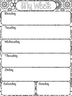 51 best free monthly weekly printables images on pinterest day