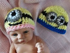 Bev's Preemie Minion hat