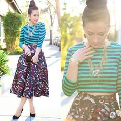 Kt Rcollection Midi, Full, A Line Skirt, Forever 21 Crop Top
