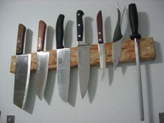 Unique Wooden Magnetic Knife Bar