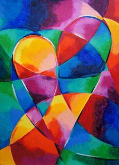"""Cuando Estoy A Tu Lado"" (heart) Abstract Tree Painting, Geometric Painting, Abstract Art, Painting Inspiration, Art Inspo, Grand Art, Art Corner, Arte Pop, Elements Of Art"