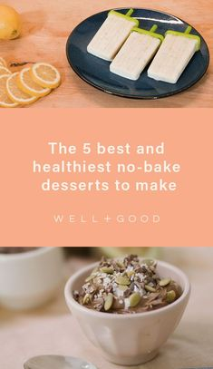 healthy desserts Desserts To Make, Healthy Dessert Recipes, Healthy Baking, No Bake Desserts, Healthy Snacks, Snack Recipes, Breakfast Lunch Dinner, Oven, Clean Eating