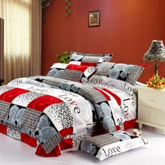 1000 images about red and grey on pinterest decorative pillow covers decorative throw - Bring your bedroom to life with great comforter sets ...