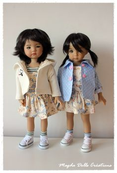 Dernières tenues de mois de juin. | Magda Dolls Créations Sewing Doll Clothes, Sewing Dolls, Diana, Little Darlings, Doll Patterns, Beautiful Dolls, Harajuku, Creations, Dressing