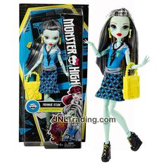 Mattel Year 2015 Monster High How Do You Boo? Series 11 Inch Doll Set - Daughter of Frankenstein FRANKIE STEIN with Earrings, Necklace and Purse