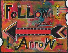 arrow art, inspirational art, arrows, walk your path, journey, find yourself, live your life, live your trust, gypsy decor, indie decor, art - pinned by pin4etsy.com