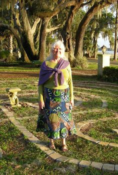Melinda Joy Miller, author of the 'Shamanic gardening: Timeless Techniques for the Modern Sustainable Garden' walks a labyrinth of her own design for Angel Television's documentary.