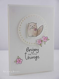 Stampin with Beemybear: Enjoy the little things, stempel, karte, katze