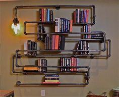 Industrial Pipe Bookshelf As Seen on MAN CAVES. $1,200.00, via Etsy.