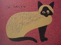 Cat | by Kiyoshi Saito