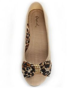 "love these leopard bow flats. my 2yr old daughter saw this on my computer screen and said ""oooo thats cute mom"" she already LOVES shoes."