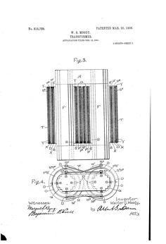 Patent US815729 - Transformer. - Mar 20, 1906